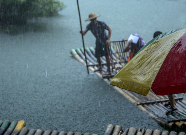 Temporale a Guilin